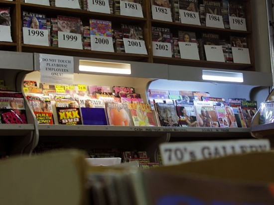 """Ken Pfeiffer says a well-stocked adult section gave them an """"edge"""" against other bookstores that were too afraid of the taboo. - DANNY WICENTOWSKI"""