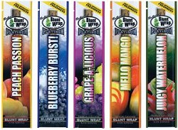 A rainbow of flavored blunt wraps - IMAGE VIA