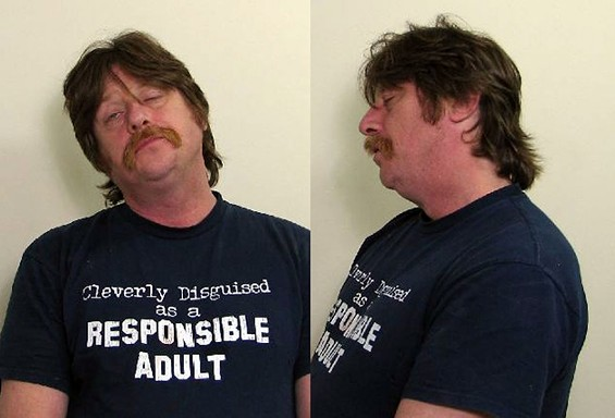 Of all the shirts one could be wearing when arrested, this has to be one of the worst. - MADISON COUNTY SHERIFF'S DEPARTMENT MUGSHOT