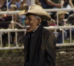 Rodeo clown with Obama mask. - COURTESY OF PERRY BEAM