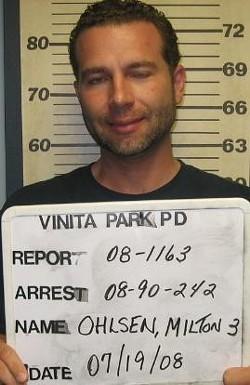 Ohlsen arrested last summer for an outstanding warrant.