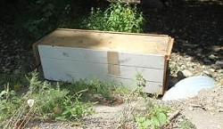 Police released this picture of the box asking for clues into Tangela Fisher's death. - ST. JOSEPH POLICE DEPARTMENT