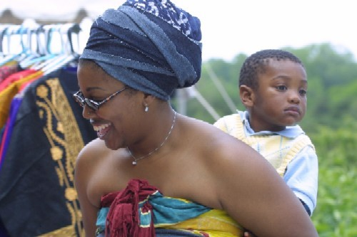 Families browsing the St. Louis African Arts Festival. - COURTESY ST. LOUIS AFRICAN ARTS FESTIVAL.