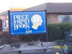 Piece of Mind Books in Edwardsville closed down last summer. - IMAGE VIA