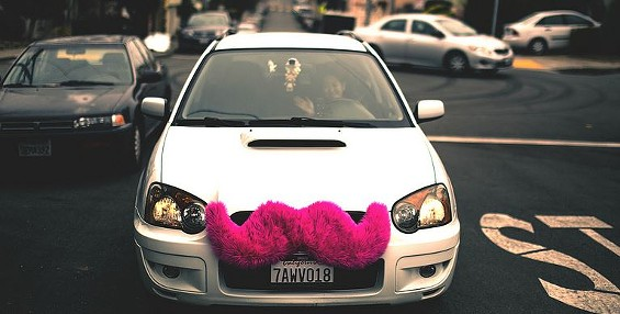 You have to wonder what the cops would do if Lyft lost the mustache. - ALFREDO MEDEZ ON FLICKR