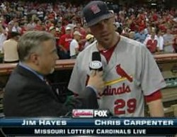 "Jimmy ""The Cat"" Hayes makes history last night. (Chris Carpenter, too.)"