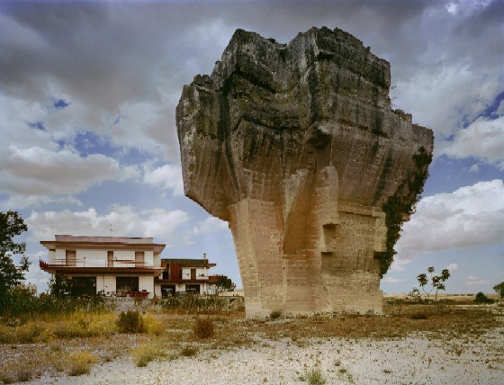 Jay Wolke, Quarried Hill, Matera, 2000. From Architecture of Resignation. - COURTESY OF THE ARTIST.