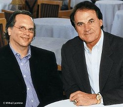 Bissinger and La Russa in happier times. - HMHBOOKS.COM
