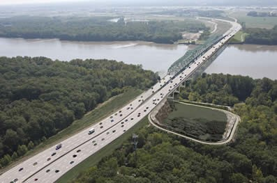 An artist rendering of the new, improved Daniel Boone Bridge. - COURTESTY MODOT