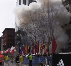 Footage from the explosion yesterday. - VIA YOUTUBE