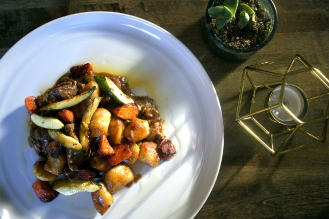 Braised beef with butternut squash gnocchi is one of 58hundred's signature dishes. - CHERYL BAEHR
