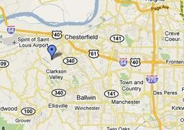 The crash site (blue marker) is just a mile or two from the airport.