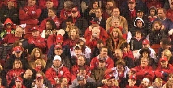 Recognize any of these folks seated in section 148 for Game 2 on October 20?