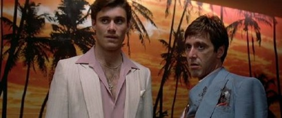 Bauer, left, in the 1983 classic film Scarface.