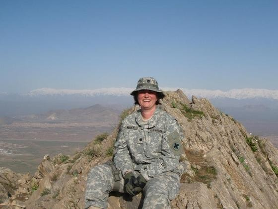 Lisa Miller in Afghanistan - VIA FACEBOOK