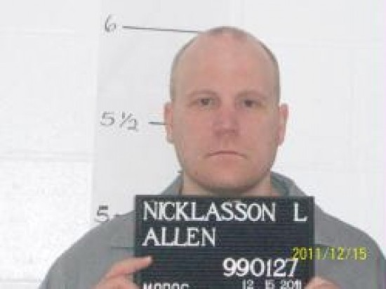 Allen Nicklasson, death row inmate. - V