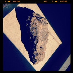 The concrete chunk used to break the window. - SHELLEY S. NIEMEIER
