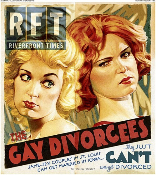 """Tom Carlson was honored for his work on """"Gay Divorcees,"""" along with two other RFT covers."""