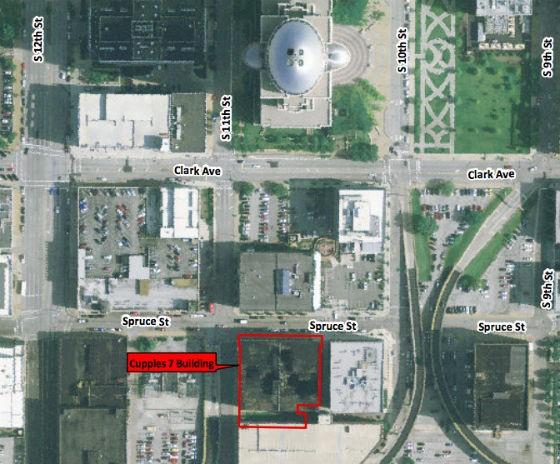 Site map from city's RFP. - VIA STLOUIS-MO.GOV