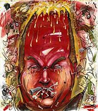 An artistic interpretation of Kevin Slaten's head.