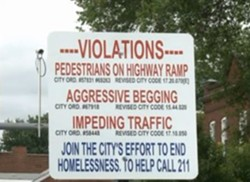 "One of city's original signs, unmarked by the  ""Final Solution"" sticker. - KSDK"