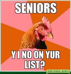 """A meme from the Ladue Horton Watkins H.S. page, posted around the time of the """"list."""" - HSMEMES.COM"""