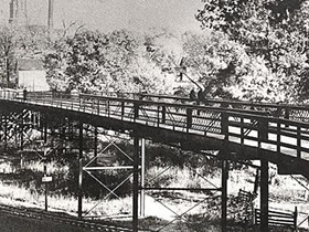 The Old Stewart Road Bridge in Columbia, where James T. Scott was lynched. - IMAGE VIA