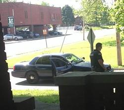 Police on her yard. - COURTESY ROBIN WHEELER