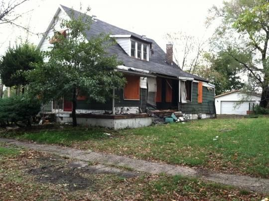 Miles Davis' East St. Louis childhood home in October 2011. - ANDREW THEISING