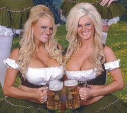 Soulard Oktoberfest: Got milk, er, beer.