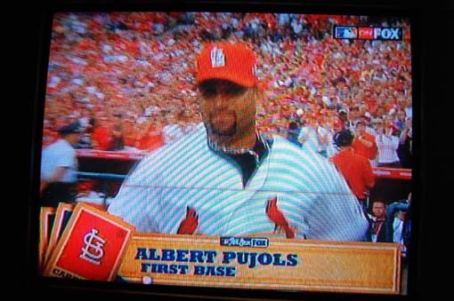 Albert Pujols is introduced!