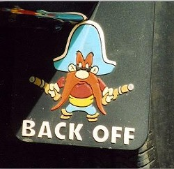 When mud flaps fail to get a trucker's message across, there's always this...