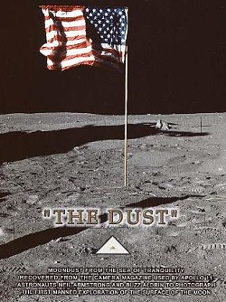 """The """"speck"""" in question. Click photo for a full-size view of the moon dust. - WWW.REGENCYSTAMPS.COM"""