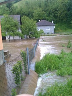 Grbic's grandmother sent this photo of the flooding in Sanski Most, in north-western Bosnia. - COURTESY OF ERNA GRBIC