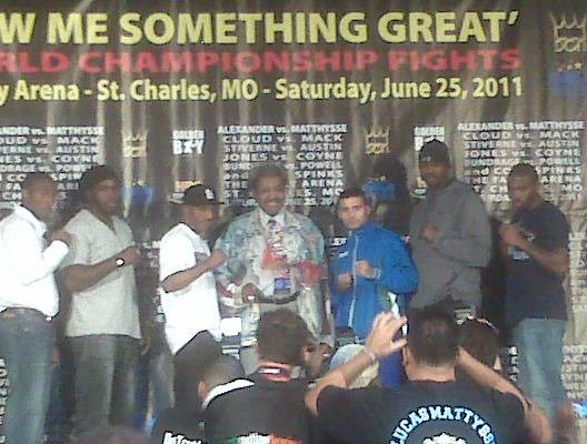 Only in St. Charles! Devon Alexander hopes for redemption this Saturday in his fight against the heavy-handed Argentinian, Lucas Matthysse. - ALBERT SAMAHA
