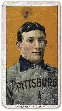 The famed Honus Wagner T206 card.