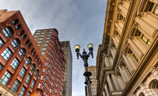The Old Post Office on the left and the Laclede Gas Building on the left. - BEN EVANS