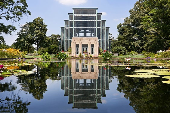 The Jewel Box in Forest Park is an example of St. Louis' version of modernism, says Robert Sharoff. - WILLIAM ZBAREN