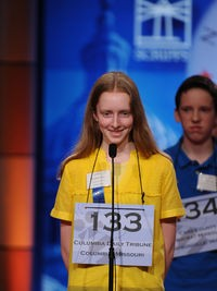 Platz, spelling. Speller 134 has reason to look so pissy; she made the semifinals and he did not. - IMAGE SOURCE