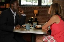 Andre Hepkins and Claire Kellet share a moment.