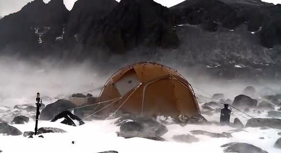 Andersen's one-bedroom science tent in Antarctica. - DALE ANDERSEN