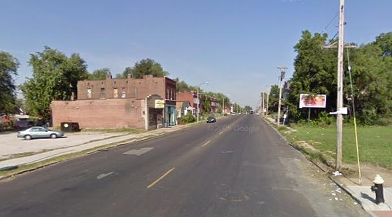 Treadway was shot in the 3800 block of Lee (above) just five blocks down the street from the site of another homicide on Tuesday.