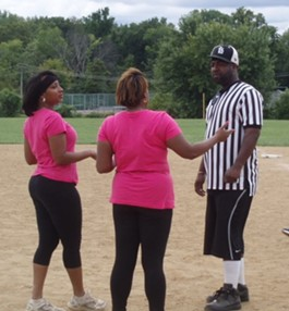Sweetkixx Kickball Association kicks off their season in late May - IMAGE VIA