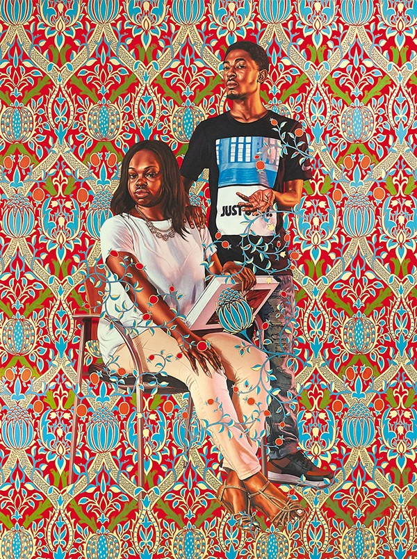 Kehinde Wiley; Robert Hay Drummond, D.D. Archbishop of York and Chancellor of the Order of the Garter, 2018; (C) Kehinde Wiley.  Photo of the artwork by Theo Welling.