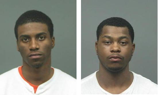 Prosecutors have charged Corey Bracey (left) and Carlos Brown with second-degree murder.