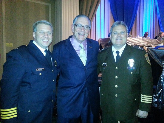 Chief Tim Fitch, right. - VIA TWITTER / @CHIEFTIMFITCH
