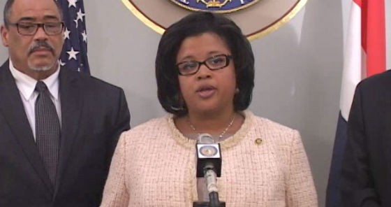 Senate video of Chappelle-Nadal's press conference yesterday. - SCREENSHOT
