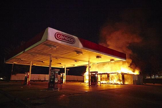 The Conoco station.