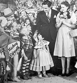Carroll on the set of the Wizard of Oz.