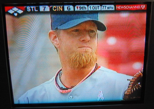Updated photo: Franklin's beard on May 10, 2009.